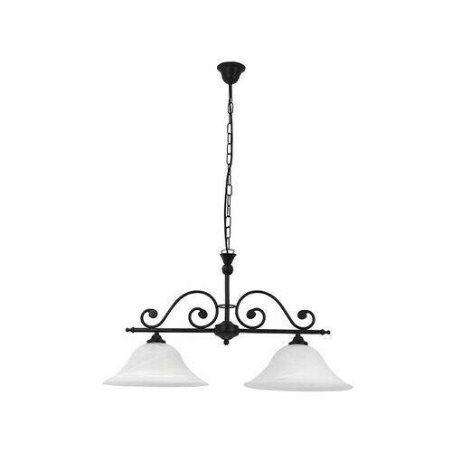 Rabalux Lampa wisząca dorothea 2x60w e27 czarny mat/biały 7777