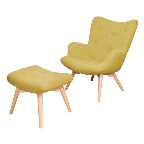 Scandinavian style design Tutubi fotel tapicerowany z podnóżkiem