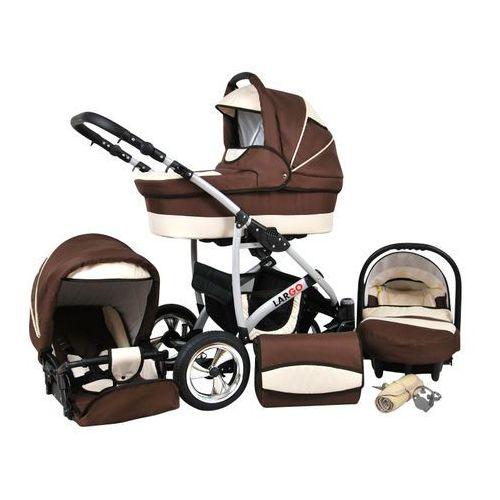 Sun baby wózek wielofunkcyjny largo 3w1, brąz