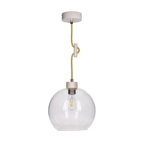 Lampa wisząca zwis oprawa Spot Light Svea 1x60W E27 dąb bielony/oliwkowa 1356232 (5901602351109)
