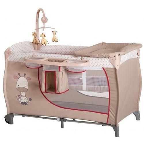 łóżeczko turystyczne babycenter żyrafa wyprodukowany przez Hauck