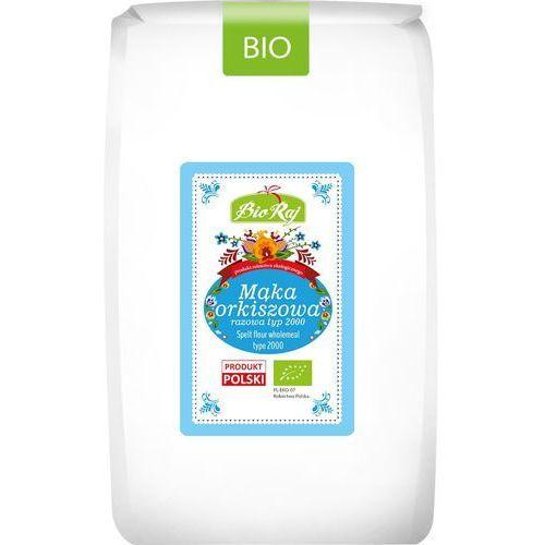 Mąka orkiszowa razowa typ 2000 bio 1 kg - bio raj marki Bio raj (konfekcjonowane)