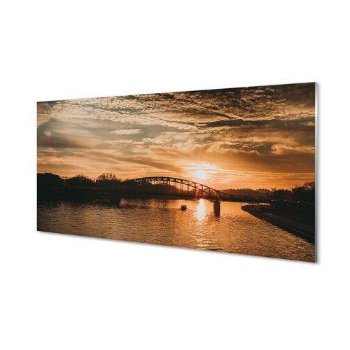 Obrazy akrylowe kraków most zachód słońca rzeka marki Tulup.pl