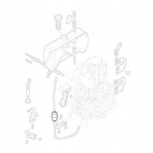 40037800 filtr wlewu paliwa 1d41 1d50 oryginalny marki Hatz