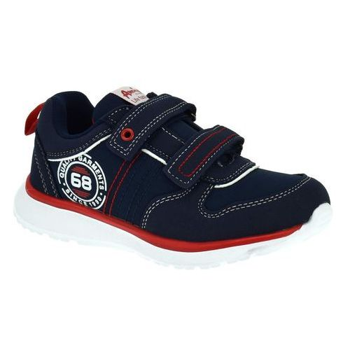 Sportowe buty dla dzieci American Club ES31/19 Granatowe - Granatowy, kolor niebieski