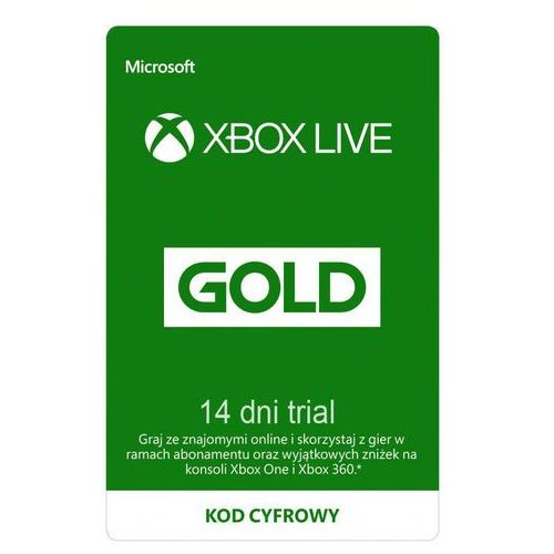 Xbox Live Gold 14 dni TRIAL subskrypcja
