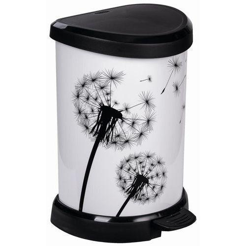 Kosz na śmieci CURVER 231259 20 L Biało-czarny + Zamów z DOSTAWĄ JUTRO! (3253922120364)