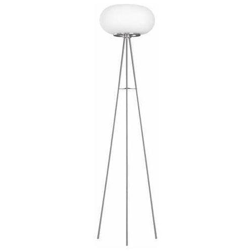 Eglo optica-c 98659 lampa stołowa lampka 1x17w led nikiel/biała