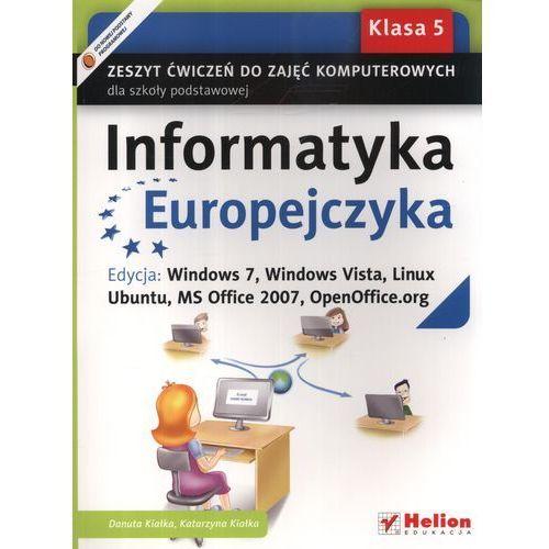 Informatyka Europejczyka 5 Zeszyt Ćwiczeń Do Zajęć Komputerowych