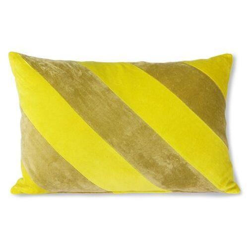Hkliving poduszka velvet w paski żółty/zielony (40x60) tku2107 (8718921036368)