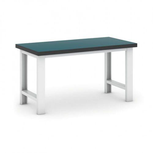 Profesjonalny stół warsztatowy gb 500, zielony blat, długość 1500 mm marki B2b partner