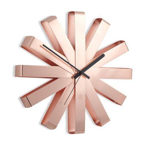 Zegar ścienny Umbra Ribbon copper 30 cm, 118070-880-X21-524