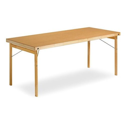 Stół składany Amber, 1800x700 mm, płyta utwardzana, drewno