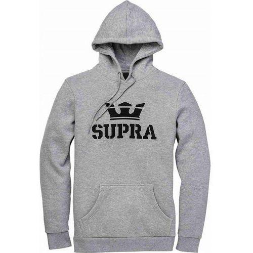 bluza SUPRA - Above Pullover Hood Grey Heather-Blk-Blk (087) rozmiar: L, kolor szary