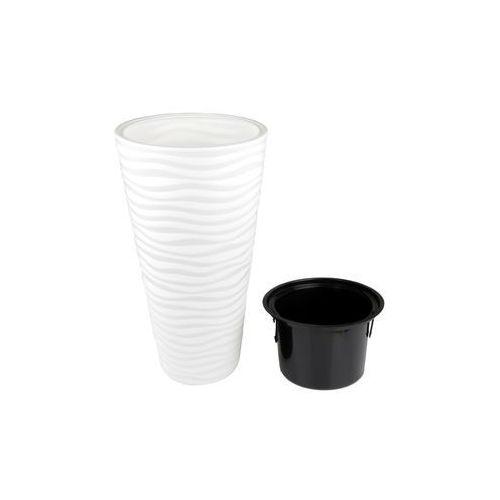 Form-plastic Doniczka plastikowa 30 cm biała sahara slim
