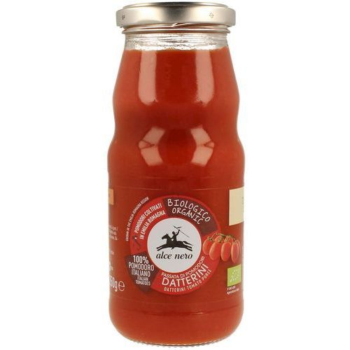 Sos pomidorowy passata (z pomidorów daktylowych) bio 350 g - alce nero marki Alce nero (włoskie produkty)