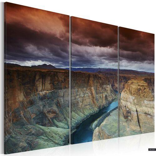SELSEY Obraz - Chmury nad Wielkim Kanionem Kolorado 120x80 cm