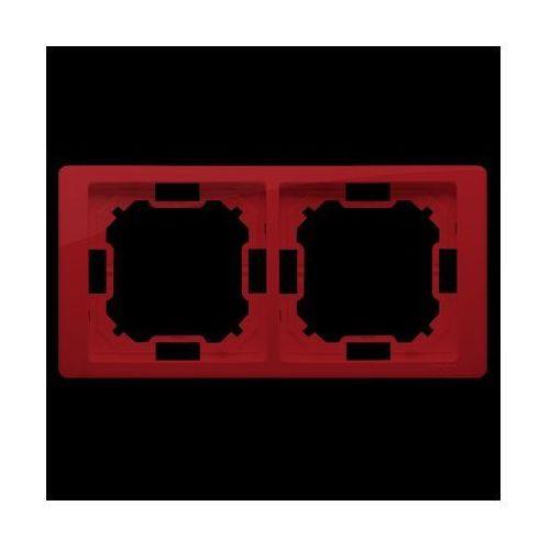 Ramka 2-krotna NEOS – uniwersalna poziom i pion; rubinowy