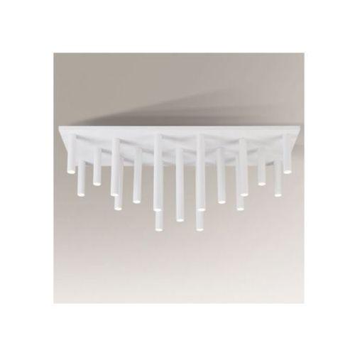 Downlight lampa sufitowa yabu 1171/gu10/bi metalowa oprawa minimalistyczny plafon sople tuby białe marki Shilo