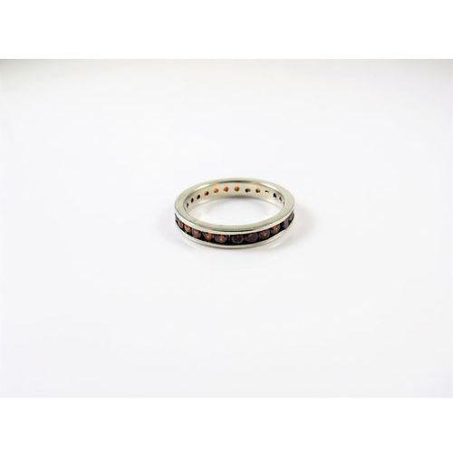 Srebrny pierścionek z CZERWONYMI CYRKONIAMI r. 11, kolor czerwony