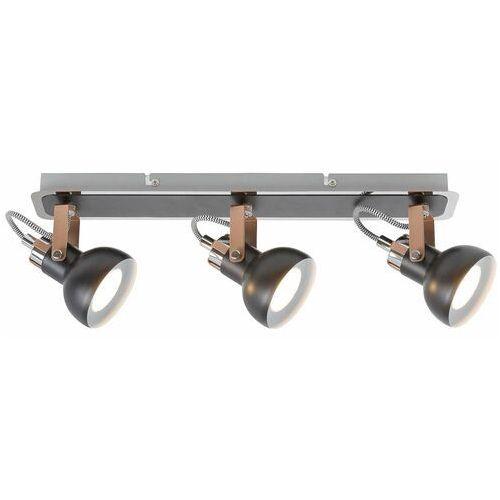 Plafon LAMPA sufitowa BALZAC 5611 Rabalux industrialna OPRAWA regulowane reflektorki metalowe czarne matowe szampańskie (5998250356112)
