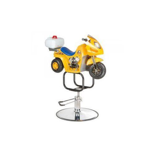 Dziecięcy fotel fryzjerski moto bw-604 żółty marki Vanity_b