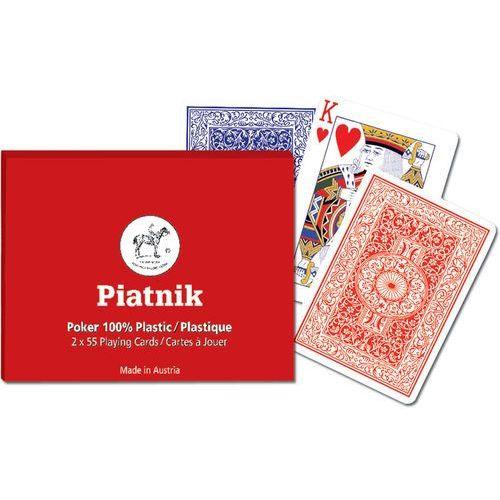 Piatnik Karty plastikowe poker  2 talie w pudełku
