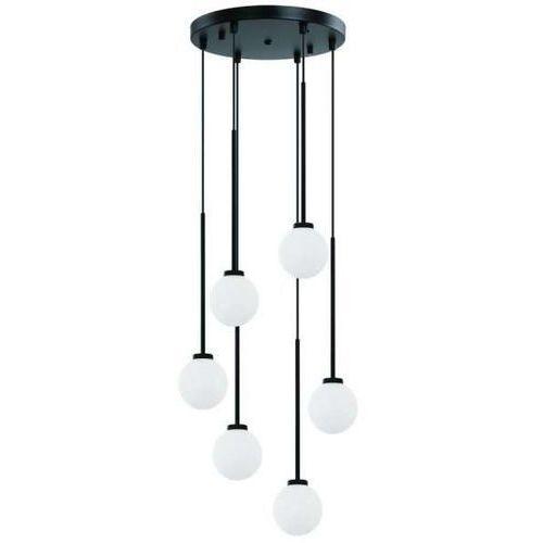 Okrągła lampa loftowa ota vi wisząca oprawa szklane kule zwis kaskada balls biała czarna marki Orlicki design