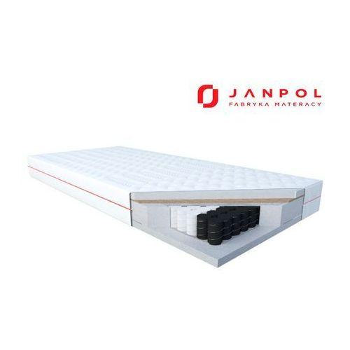 Janpol delia – materac kieszeniowy, sprężynowy, rozmiar - 120x190, pokrowiec - silver protect wyprzedaż, wysyłka gratis