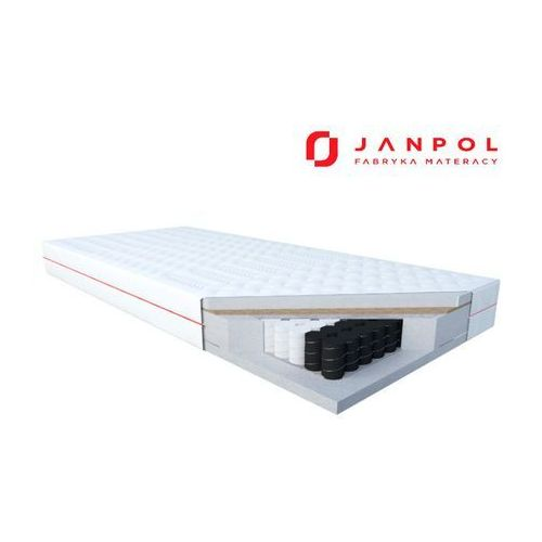 Janpol delia – materac kieszeniowy, sprężynowy, rozmiar - 160x200, pokrowiec - smart wyprzedaż, wysyłka gratis (5906267401152)