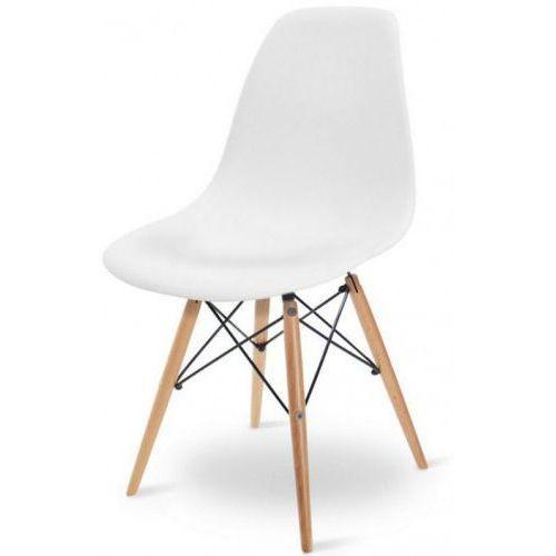 Nowoczesne krzesło eames dsw białe em-01 marki Meblemwm