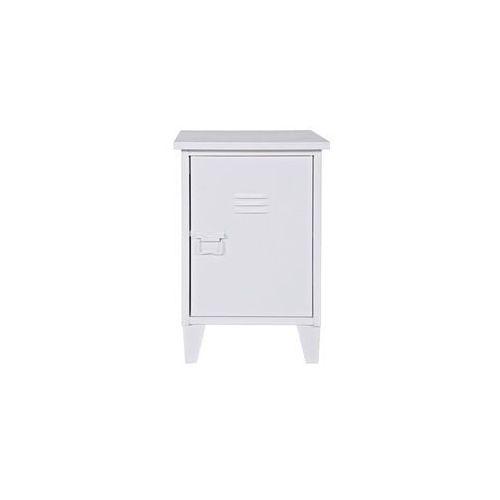 :: industrialna szafka nocna max prawa biała - biała prawa marki Woood