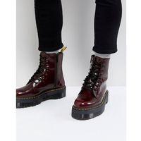 vegan jadon ii 8-eye platform boots in red - red, Dr martens