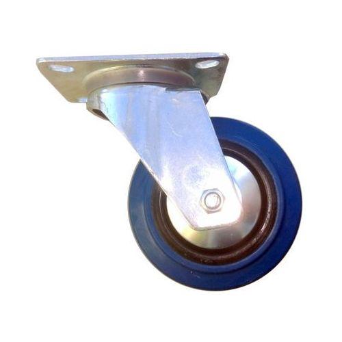 Koło fi 125 mm na płytkę, nośność 150 KG!, niebieski kauczuk, MOCNE
