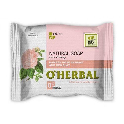 Elfa pharm O'herbal - naturalne mydło z ekstraktem z róży damasceńskiej i czerwoną glinką 100g (5901845503549)