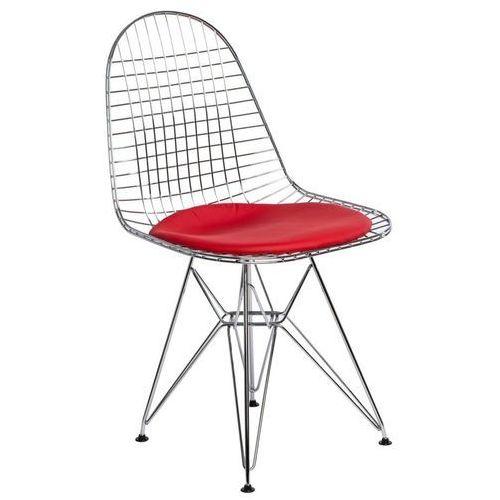 Krzesło Net czerwona pojedyncza poduszka, kolor czerwony