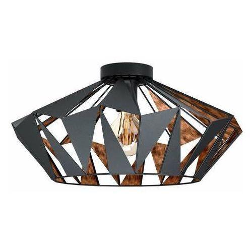 Eglo Carlton 6 43399 plafon lampa sufitowa 1x60W E27 czarny