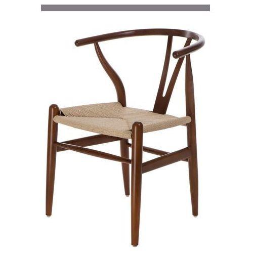 Krzesło Wicker inspirowane Wishbone - brązowy jasny, d2-5371