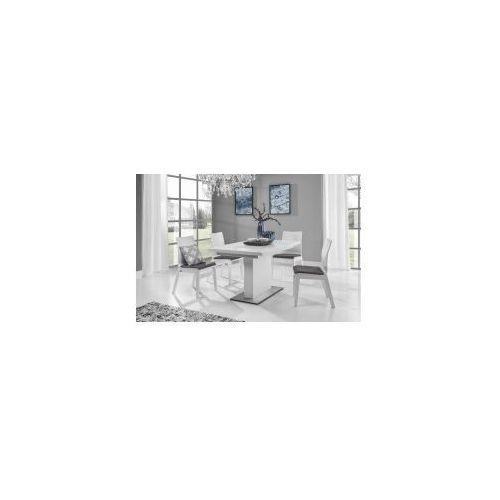 Stół evita glass white 90x180/230 marki Nova meble