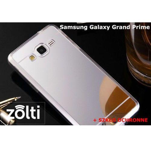 Zestaw   Slim Mirror Case Srebrny + Szkło ochronne Perfect Glass   Etui dla Samsung Galaxy Grand Prime, kup u jednego z partnerów