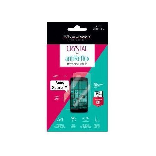 Folia ochronna MYSCREEN PROTECTOR Crystal+Antireflex do Sony Xperia M + Zamów z DOSTAWĄ JUTRO!