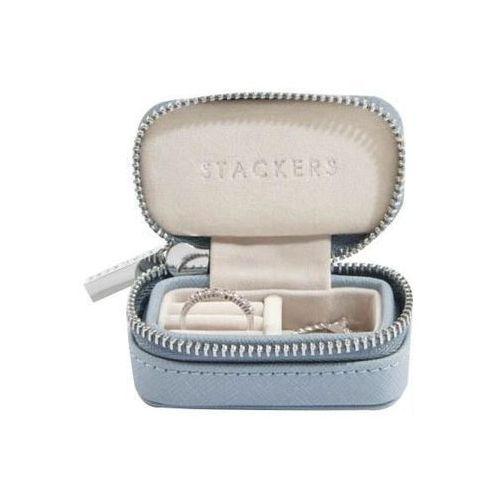 Stackers Pudełko podróżne na biżuterię travel mini dusky blue (5013648042443)