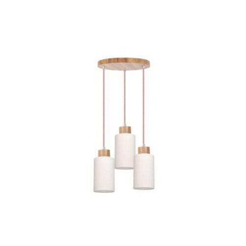 SPOT-LIGHT BOSCO Lampa wisząca Dąb/Czerwono-biały 3XE27-60W 1715570