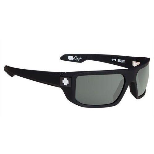 Spy Okulary słoneczne mccoy polarized soft matte black - happy gray green polar