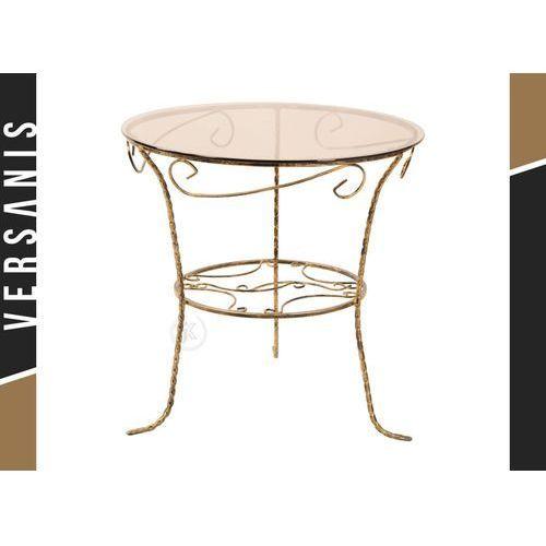 Szklany, zdobiony stolik kawowy - Kapelańczyk, 145