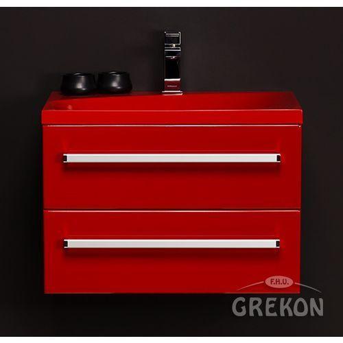 Gante Czerwona szafka wisząca z umywalką 60/39/2mcz seria fokus cz