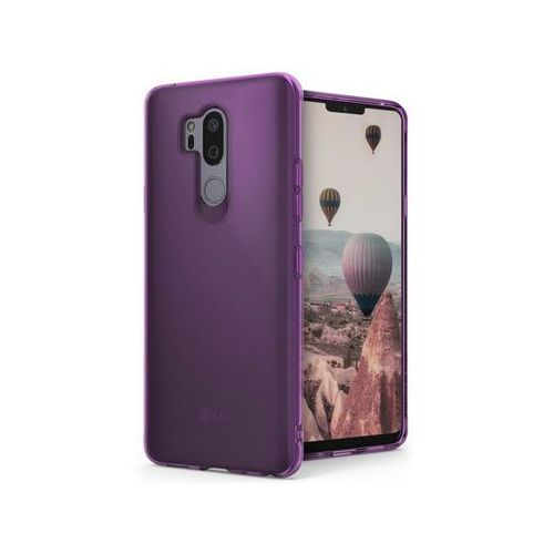 Etui Ringke Air LG G7 ThinQ Orchid Purple + Szkło - Fioletowy
