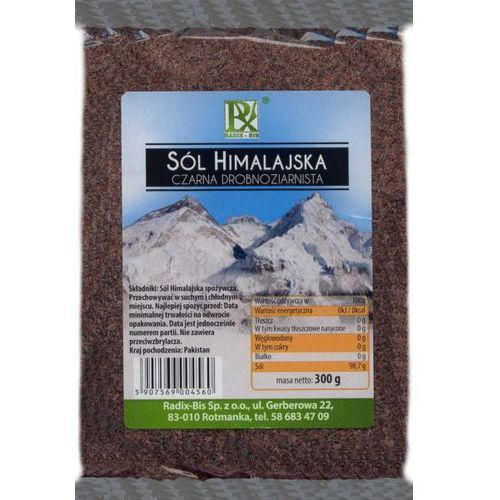 Radix Bis Sól Himalajska Czarna Drobnoziarnista 300g