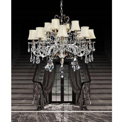 Lumina deco Żyrandol kryształowy bianca w12 ldp 66251-12 - - sprawdź kupon rabatowy w koszyku