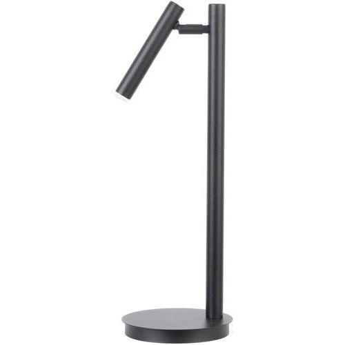 Biurkowa LAMPKA stojąca SOPEL 50195 Sigma metalowa LAMPA stołowa regulowana tuba czarna, 50195